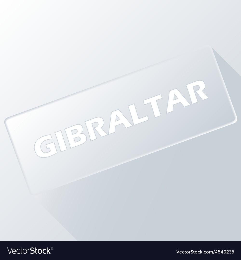 Gibraltar unique button vector | Price: 1 Credit (USD $1)