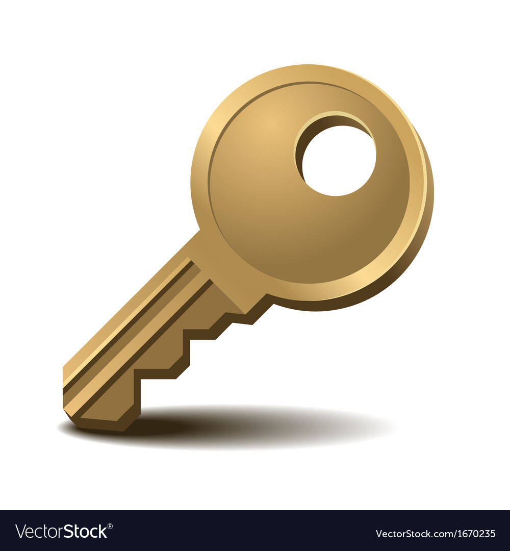 Golden key vector | Price: 1 Credit (USD $1)