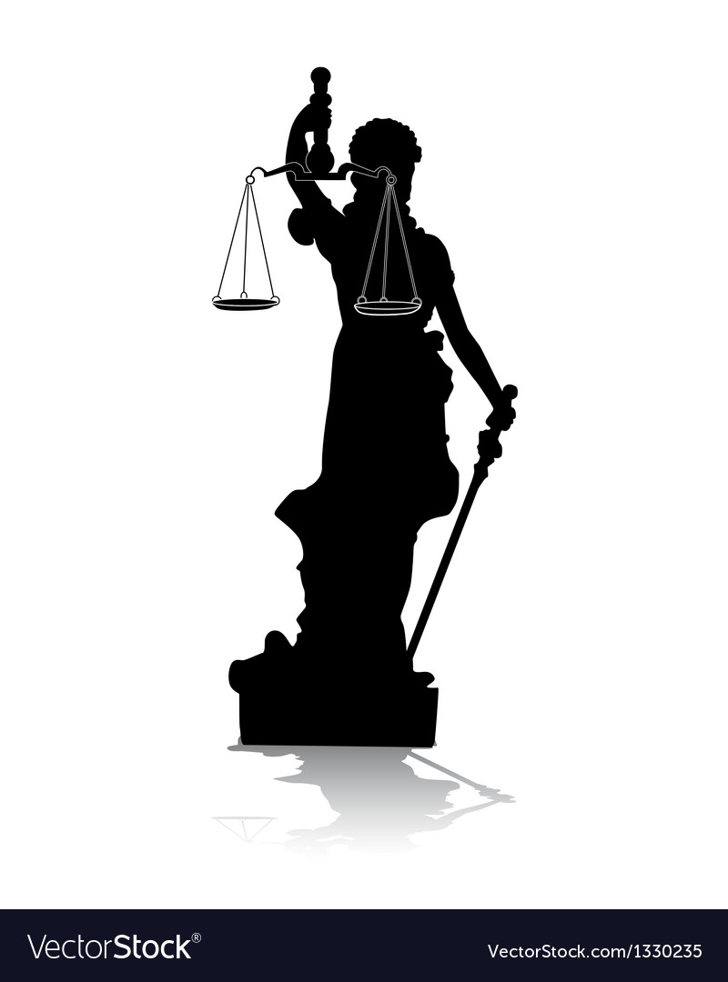 Themis goddess of justice vector | Price: 1 Credit (USD $1)