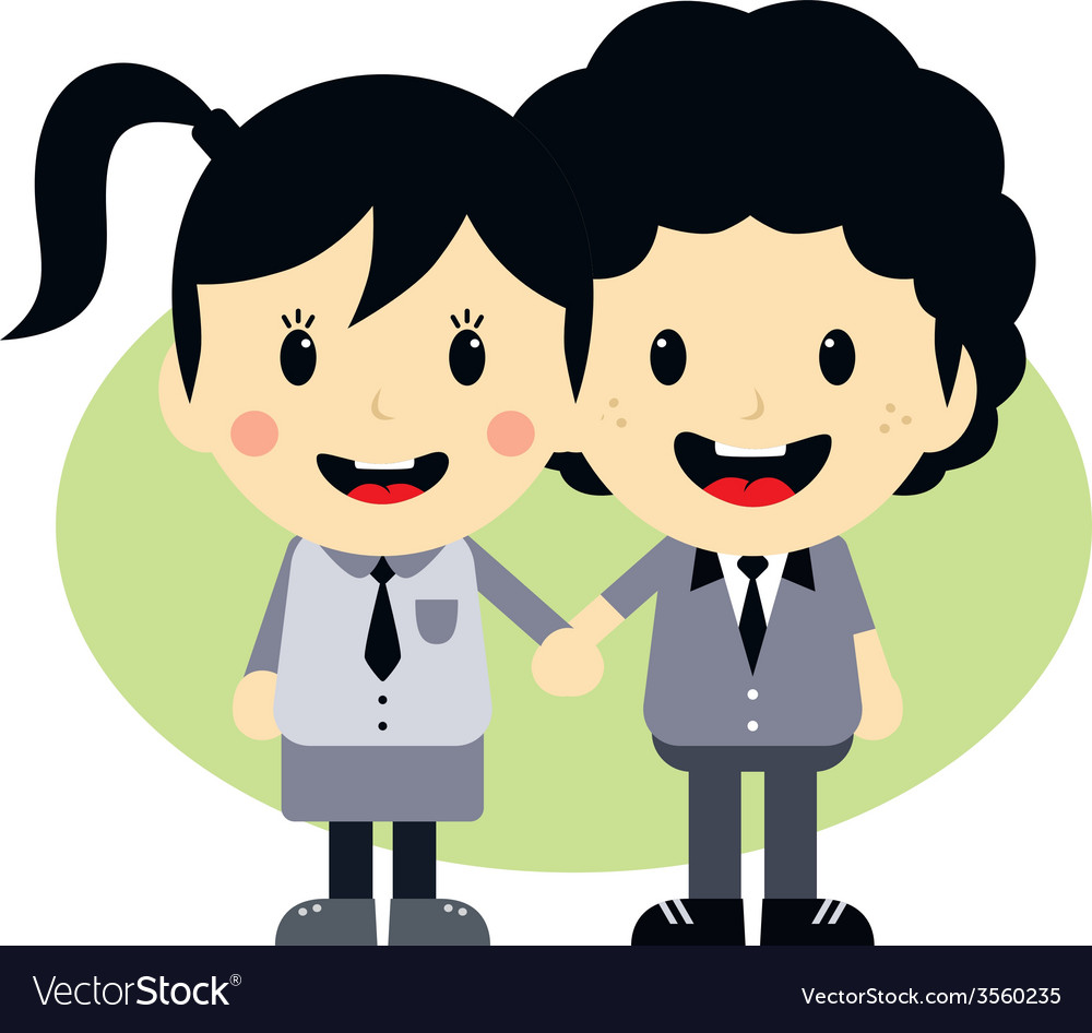 Love couple cartoon character vector | Price: 1 Credit (USD $1)