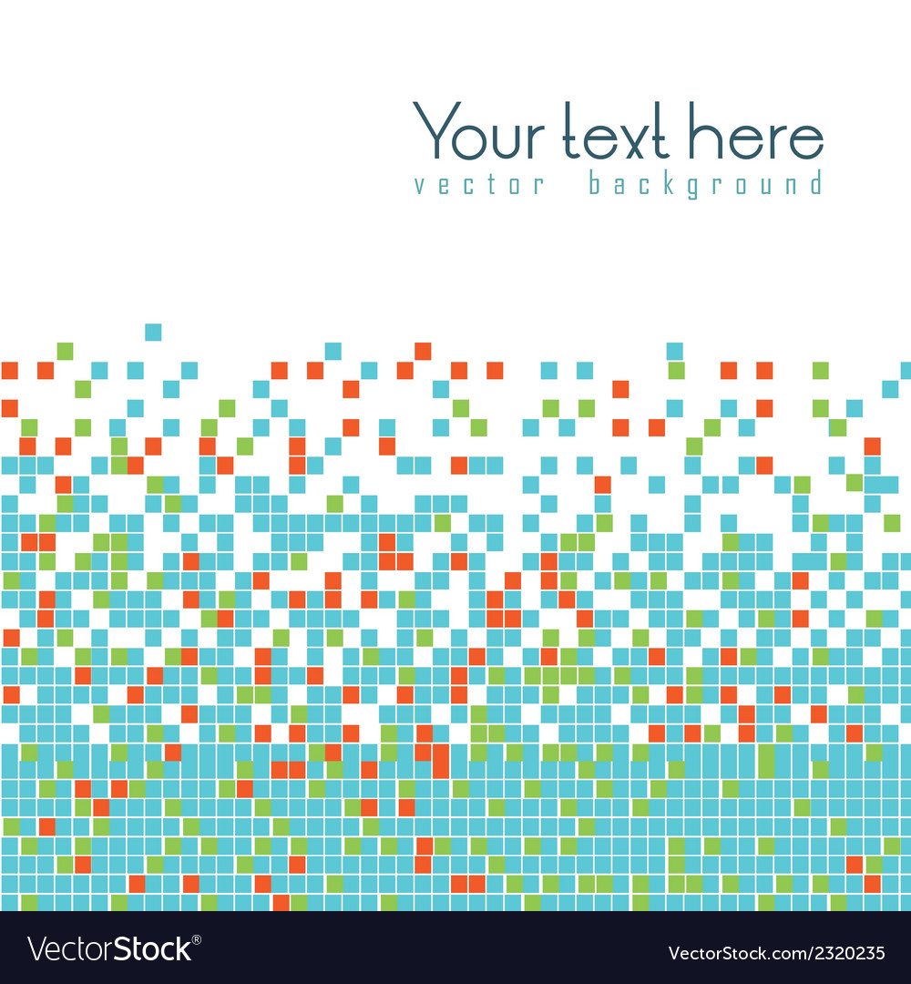 Mosaic of color vector