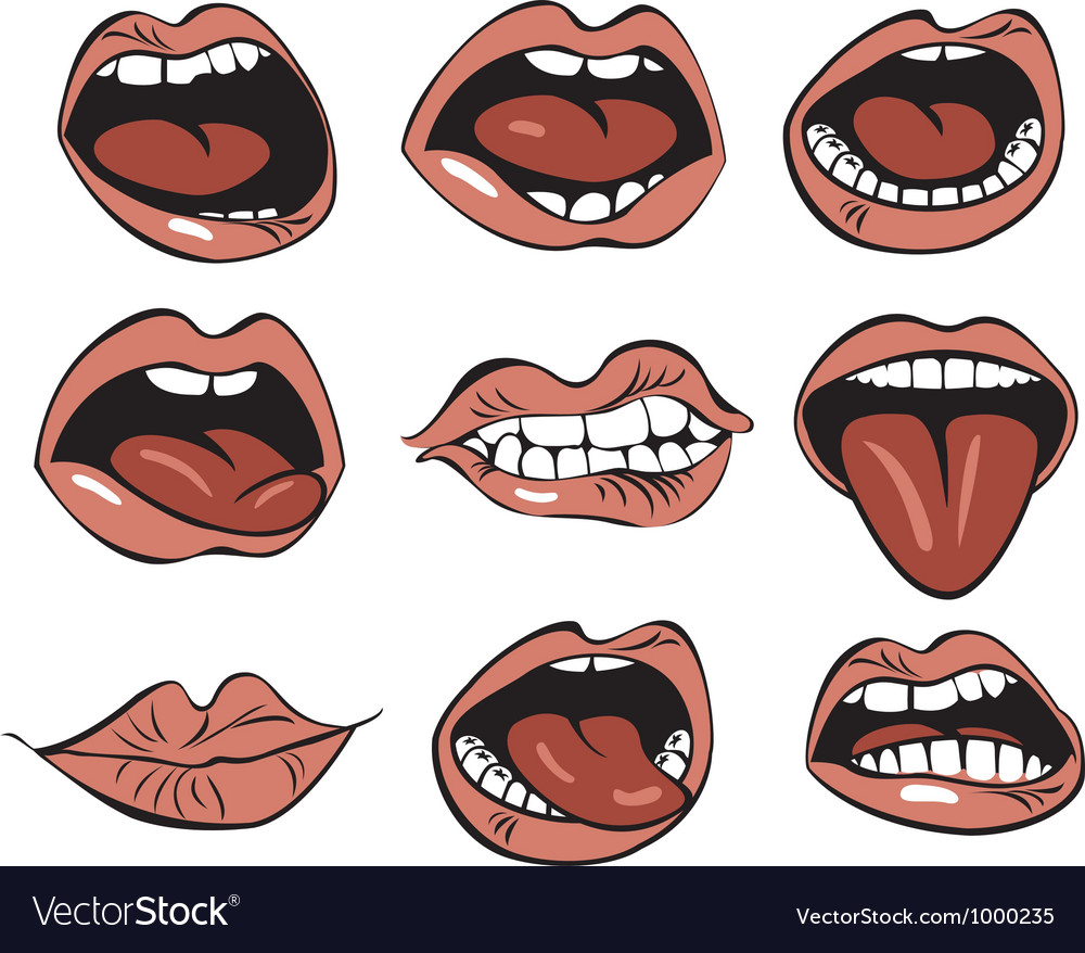 Nine mouths vector | Price: 3 Credit (USD $3)