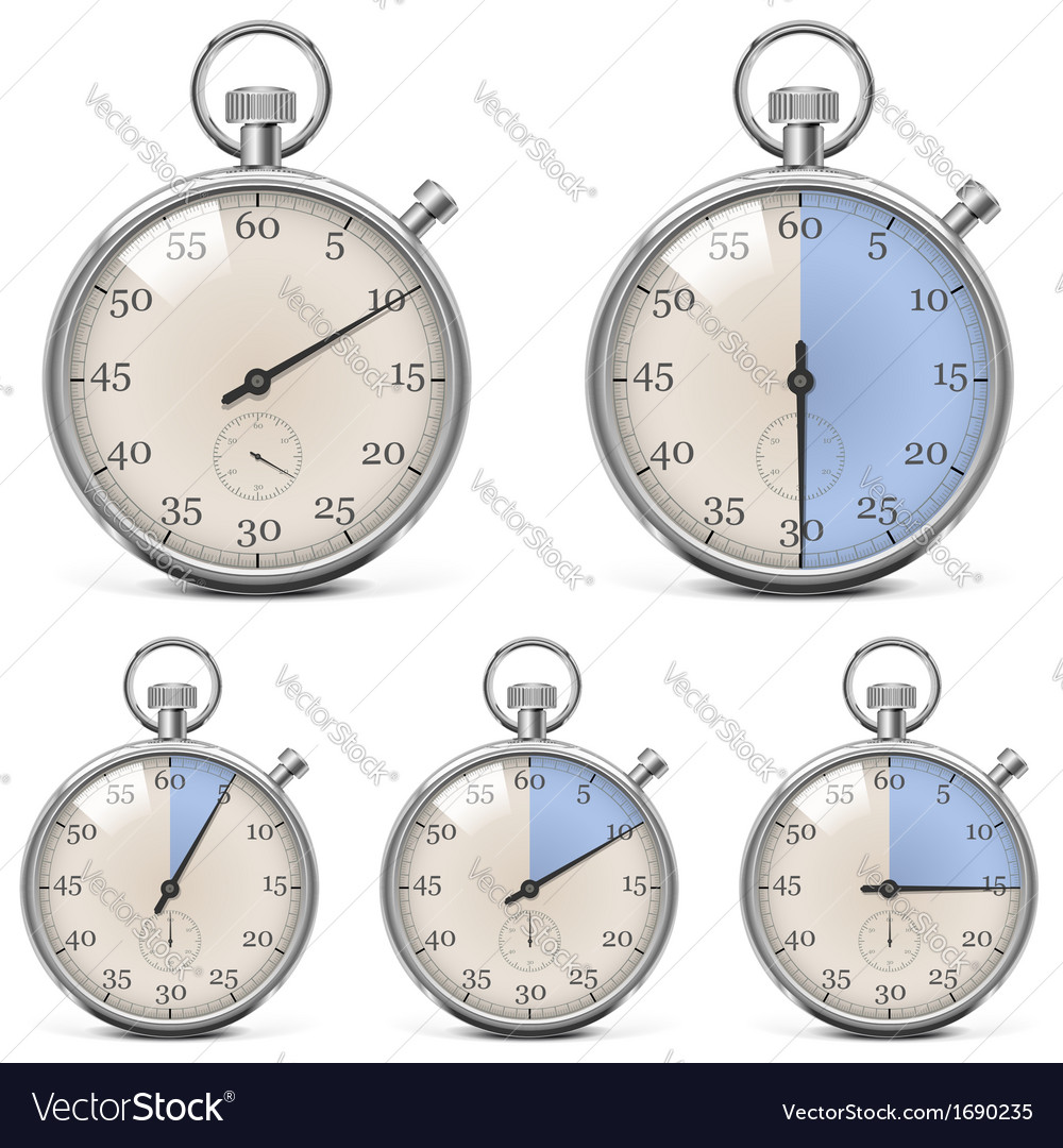 Retro stopwatch set vector | Price: 1 Credit (USD $1)
