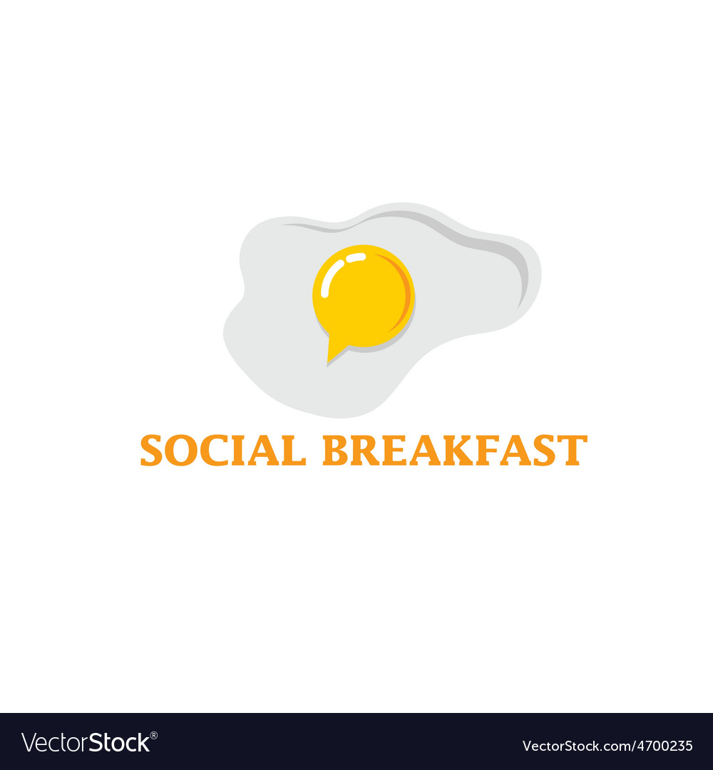 Social breakfast with fried eggs design template vector | Price: 1 Credit (USD $1)