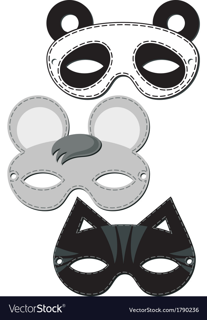 Animal mask design vector | Price: 1 Credit (USD $1)