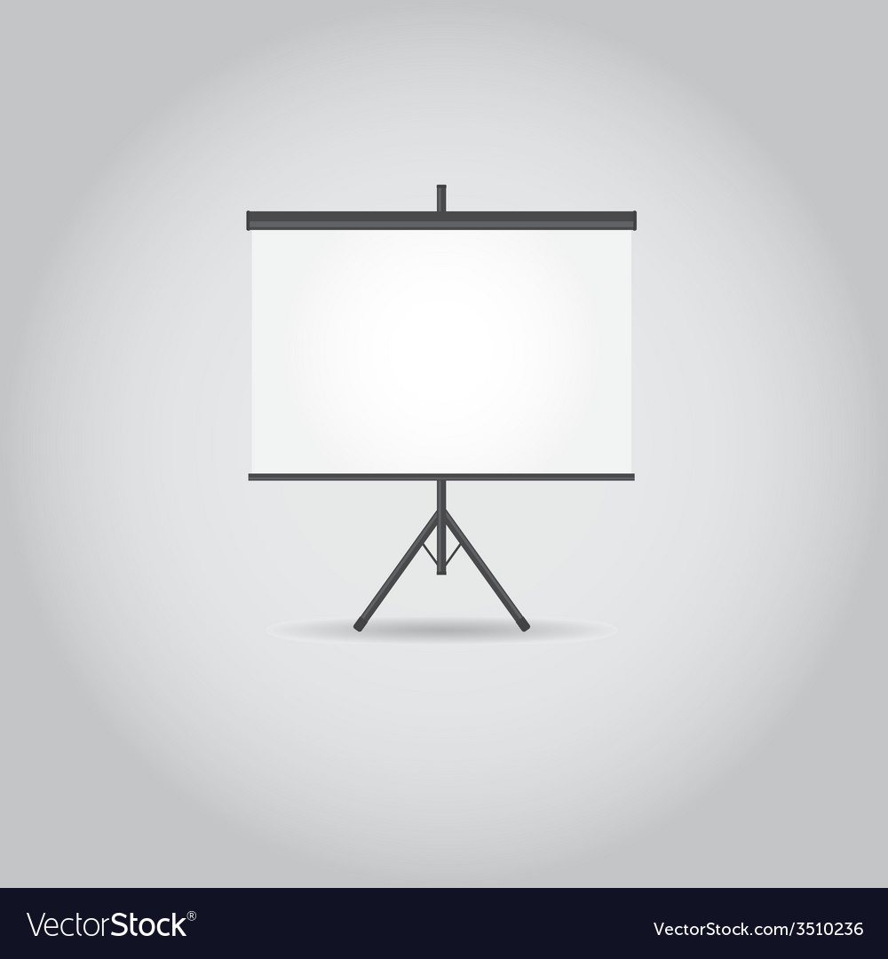 Blank projection screen with copy space vector | Price: 1 Credit (USD $1)