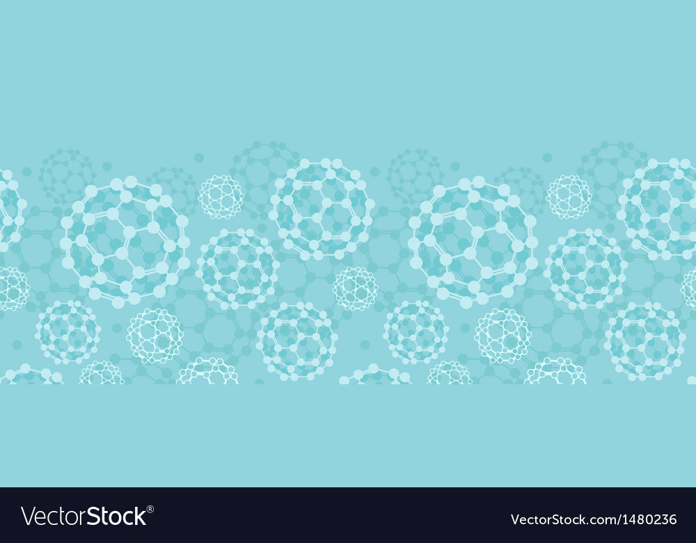 Buckyballs horizontal seamless pattern background vector | Price: 1 Credit (USD $1)