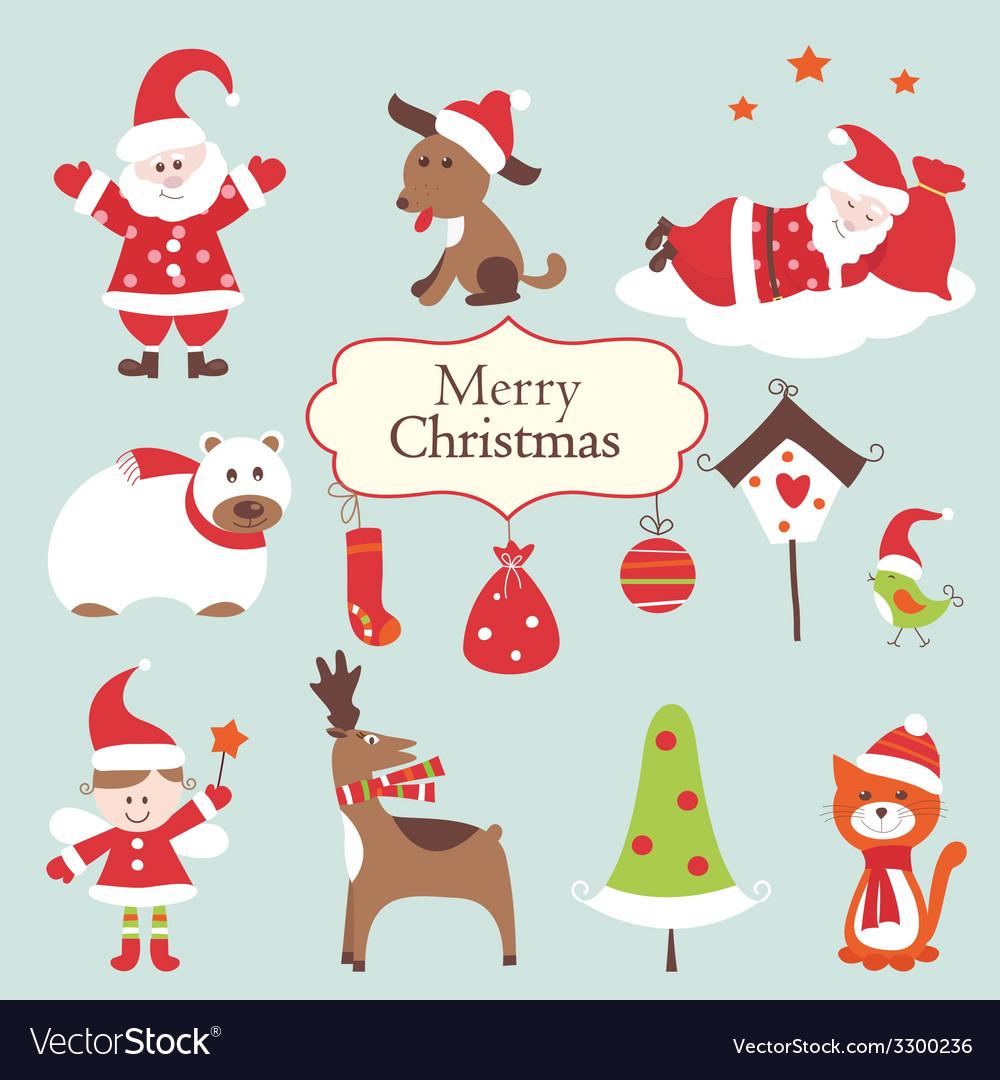 Christmas set 2 vector | Price: 1 Credit (USD $1)