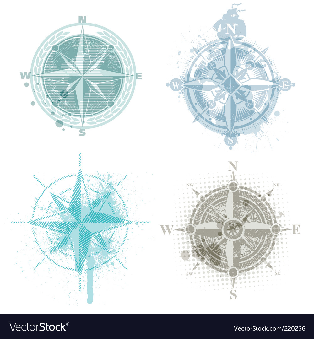 Compass roses vector | Price: 1 Credit (USD $1)