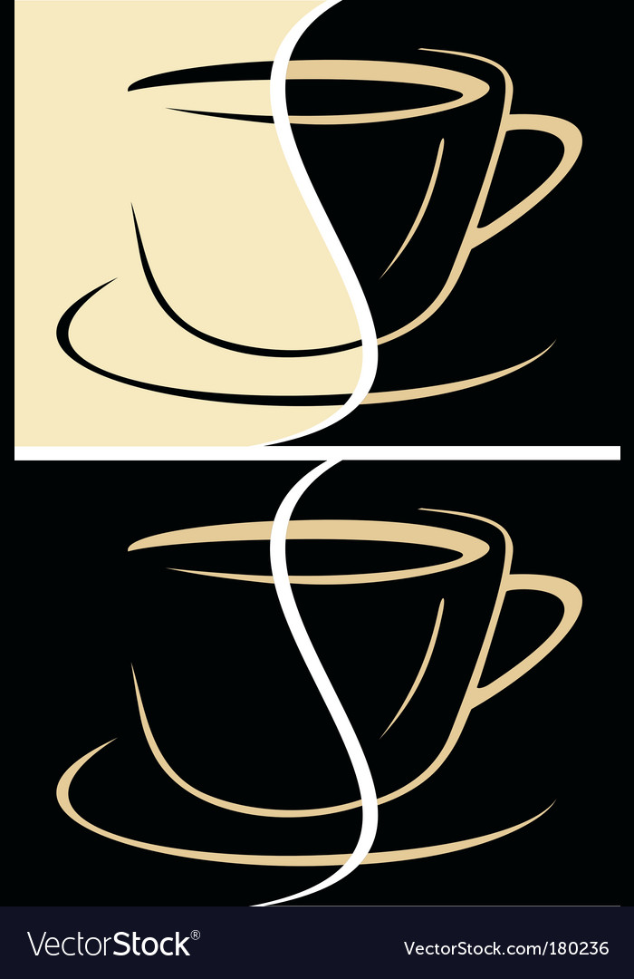 Cup of coffee latte vector | Price: 1 Credit (USD $1)