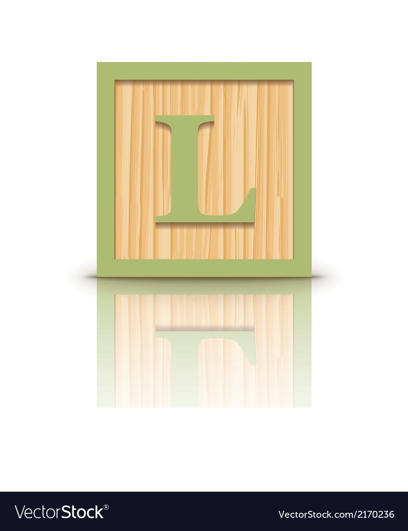 Letter l wooden alphabet block vector | Price: 1 Credit (USD $1)