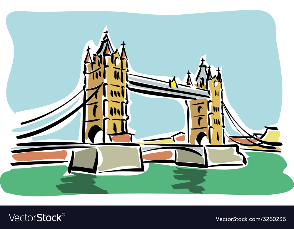 London tower bridge vector | Price: 1 Credit (USD $1)