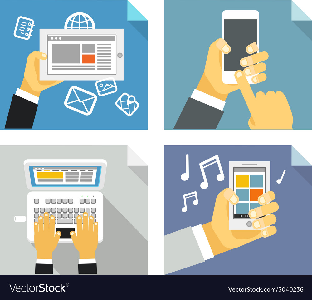 Modern technology concepts vector | Price: 1 Credit (USD $1)