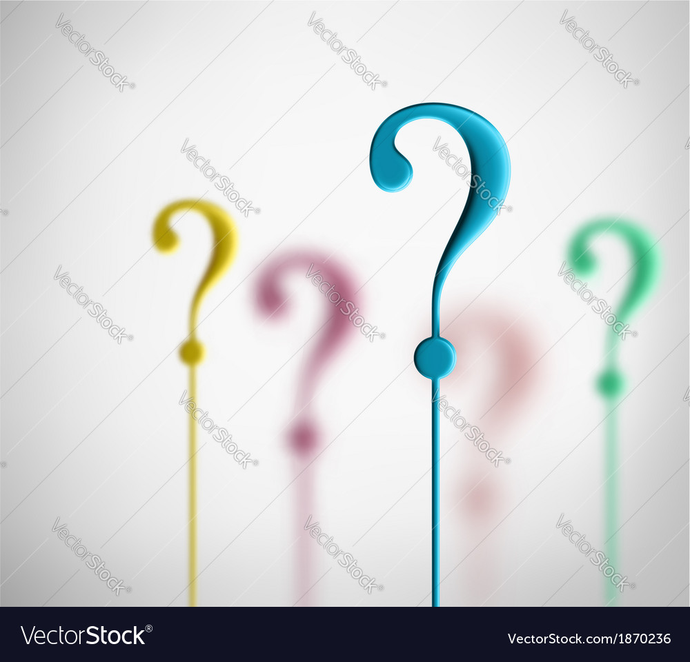 Question marks vector | Price: 1 Credit (USD $1)