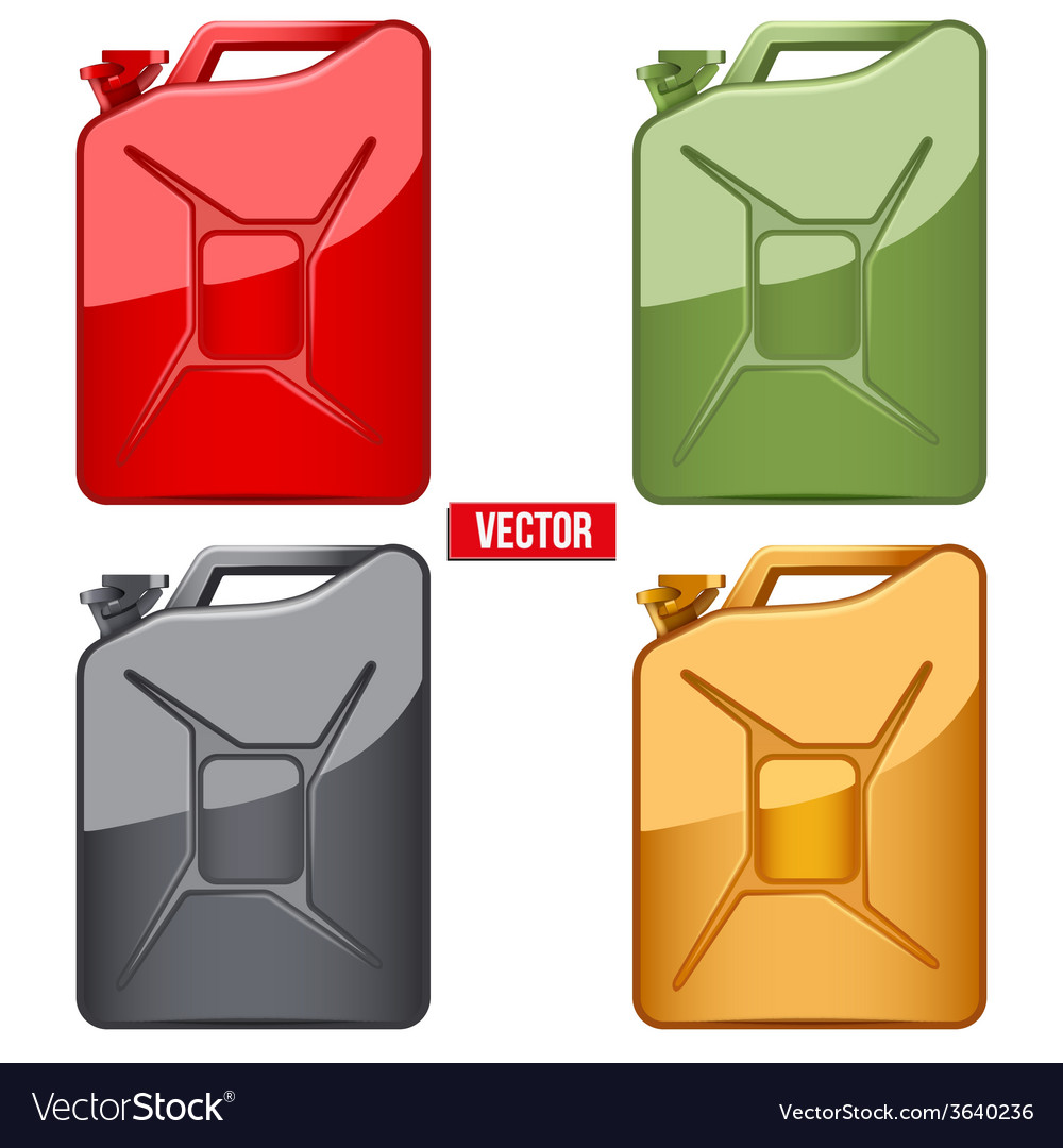 Set of fuel container jerrycan gasoline canister vector | Price: 1 Credit (USD $1)
