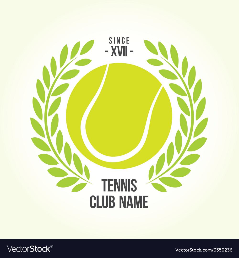 Tennis ball logo vector | Price: 1 Credit (USD $1)
