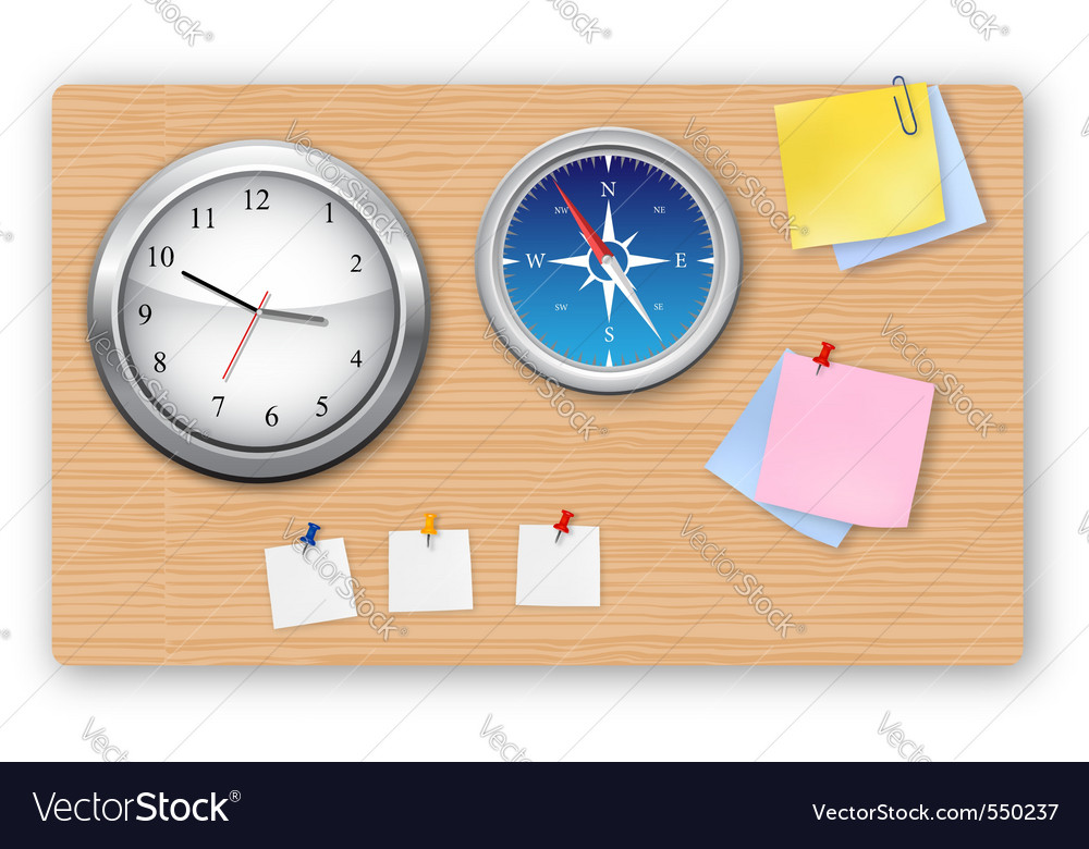A wall office clock compass vector | Price: 3 Credit (USD $3)