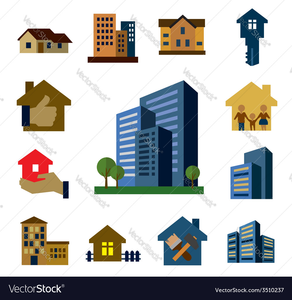 Architecture icons vector | Price: 1 Credit (USD $1)