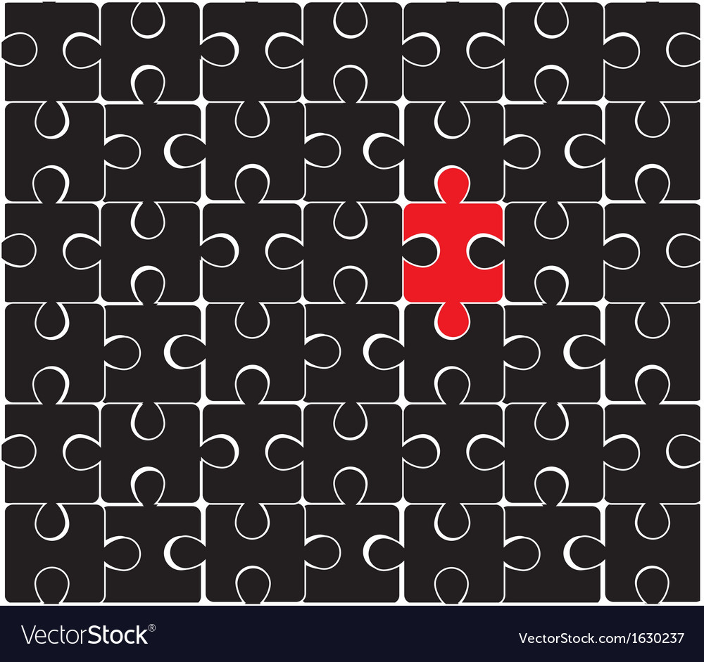 Black puzzle vector | Price: 1 Credit (USD $1)