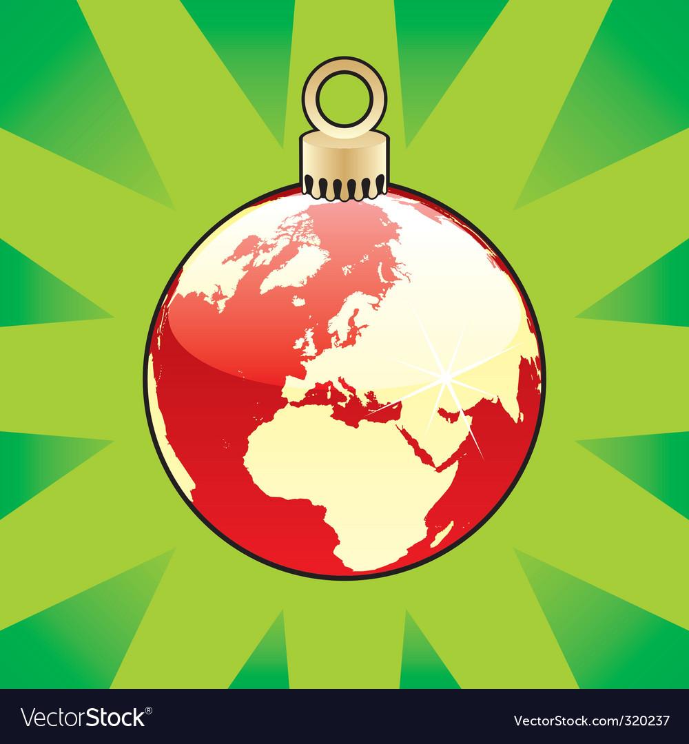 Christmas globe vector | Price: 1 Credit (USD $1)