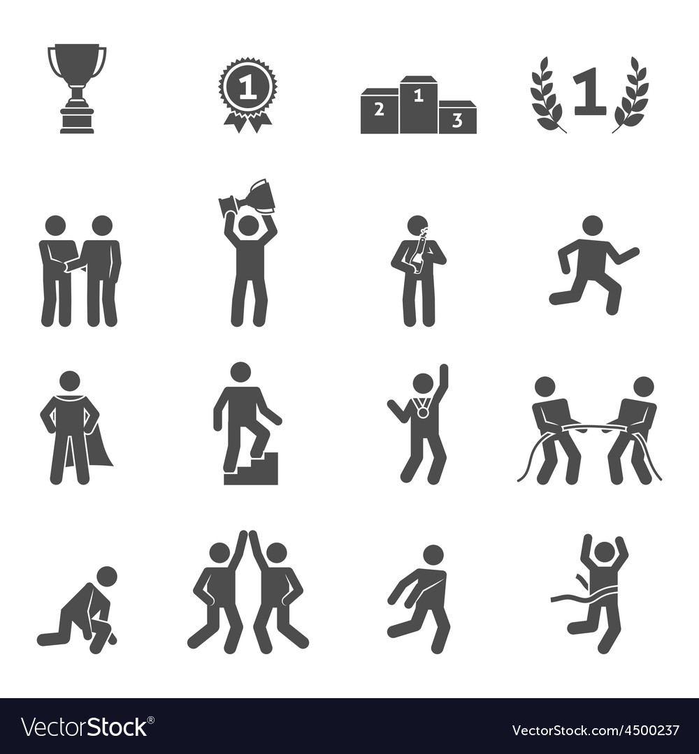 Competition icons black vector | Price: 1 Credit (USD $1)