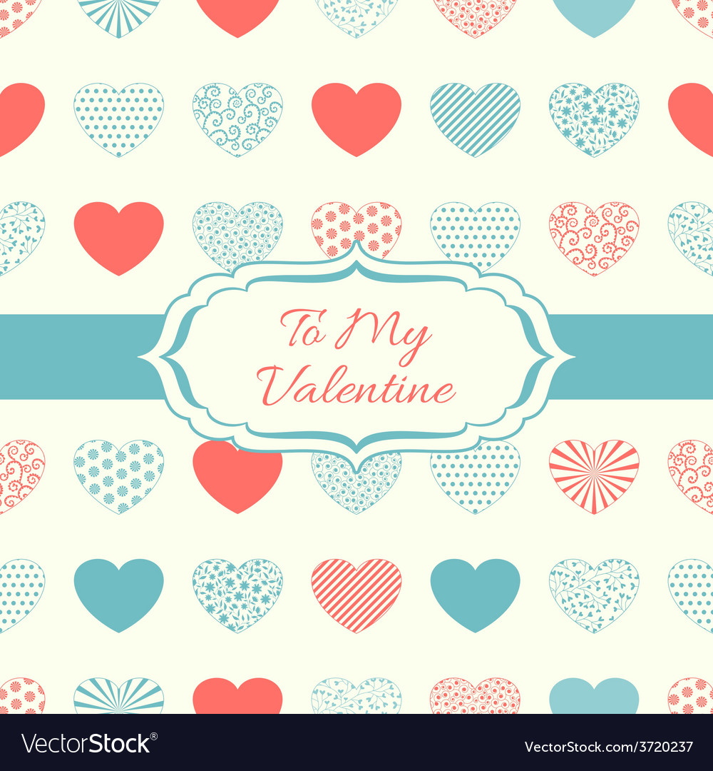Decorative background with hearts vector | Price: 1 Credit (USD $1)