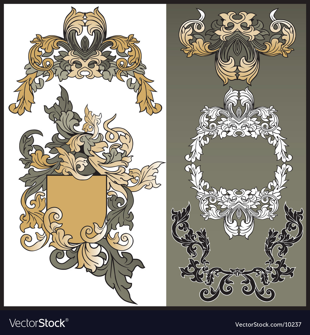 Frames from pattern for design vector | Price: 3 Credit (USD $3)