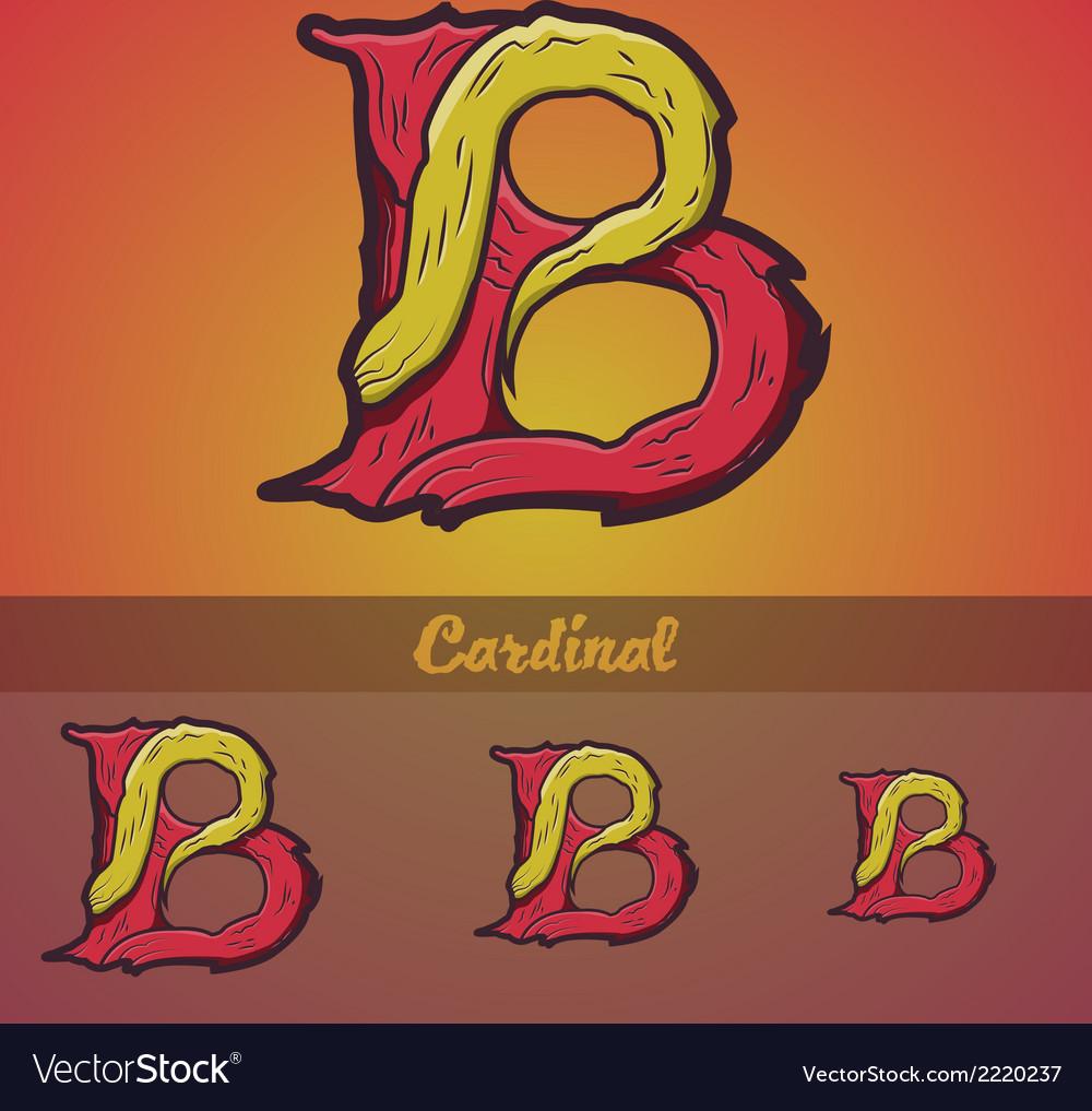 Halloween decorative alphabet - b letter vector | Price: 1 Credit (USD $1)