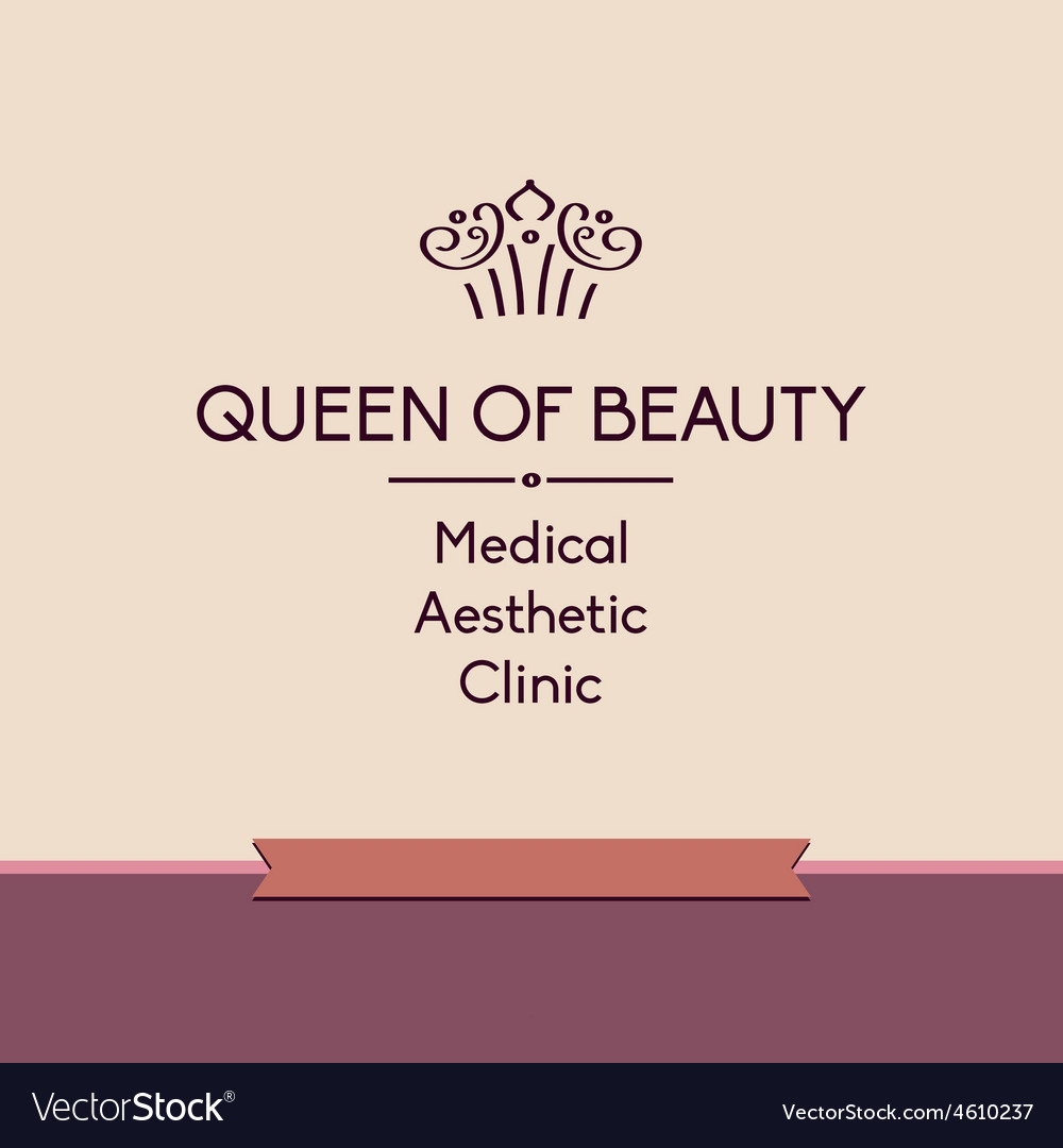 Queen of beauty logo for aesthetic medicine vector | Price: 1 Credit (USD $1)