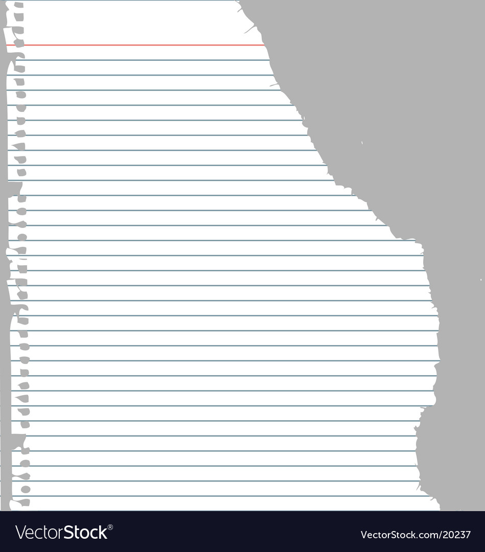 Ripped notebook paper vector | Price: 1 Credit (USD $1)
