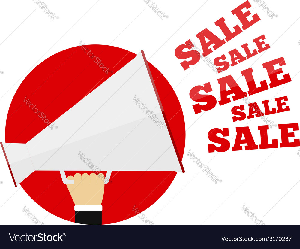 Sale promotion concept vector | Price: 1 Credit (USD $1)