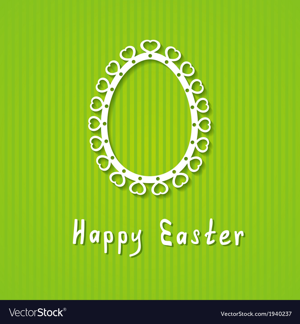 Simple easter greeting card vector | Price: 1 Credit (USD $1)