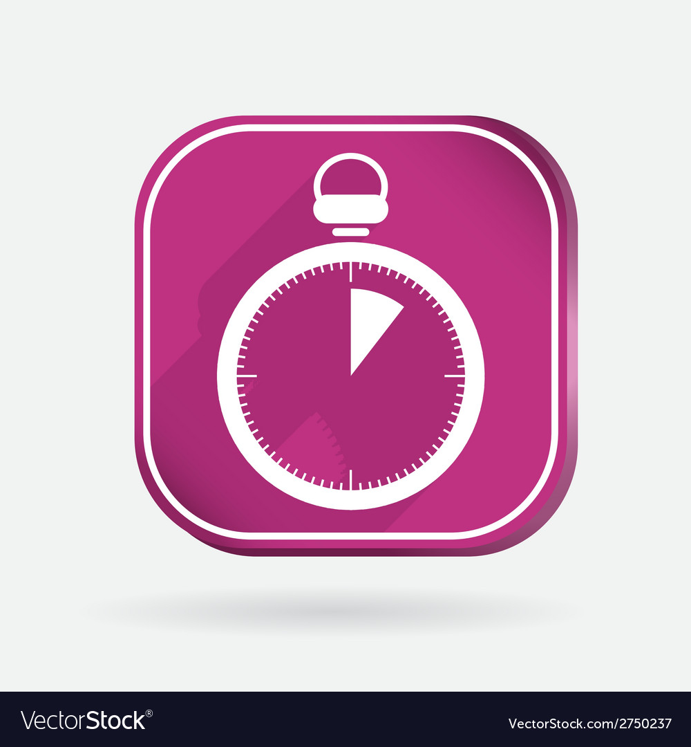 Stopwatch color square icon vector | Price: 1 Credit (USD $1)