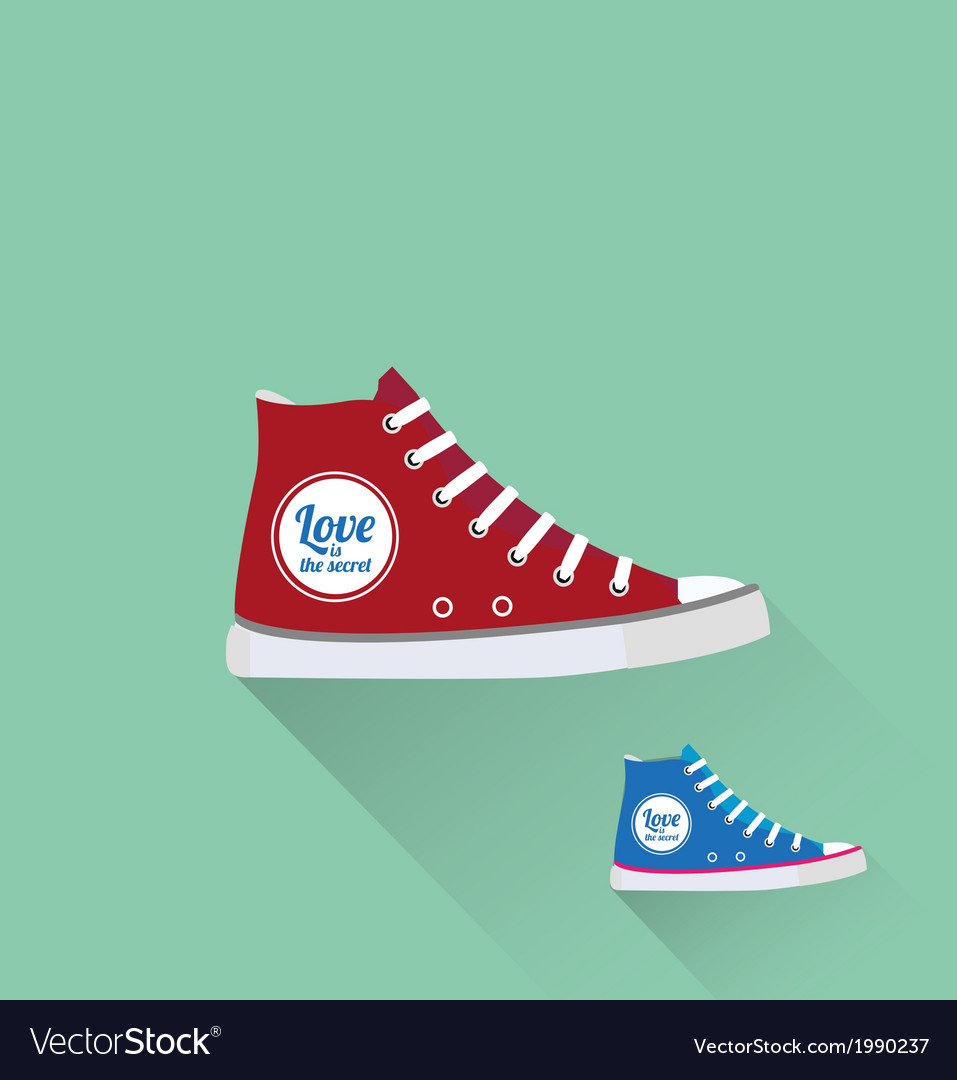 Tennis shoes vector | Price: 1 Credit (USD $1)