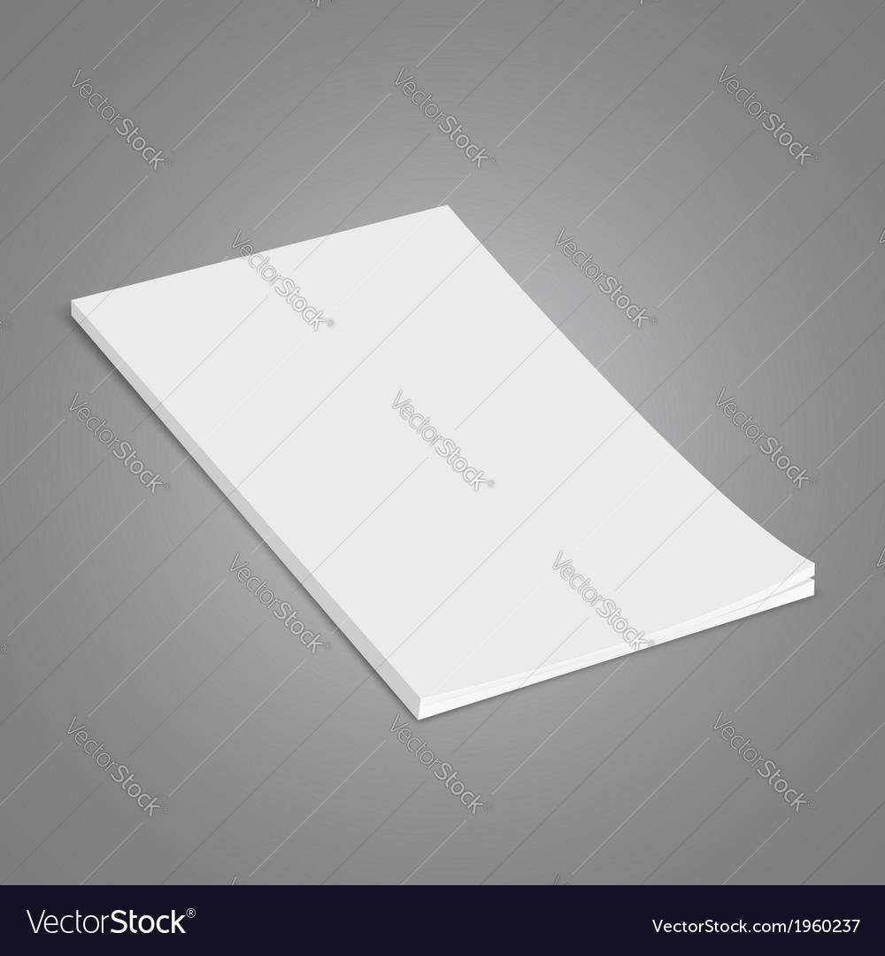 White brochure vector   Price: 1 Credit (USD $1)