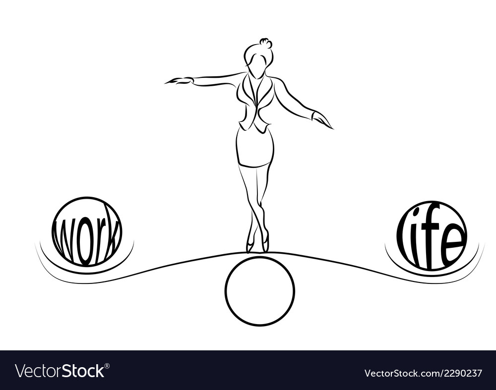 Woman balance of life vector | Price: 1 Credit (USD $1)
