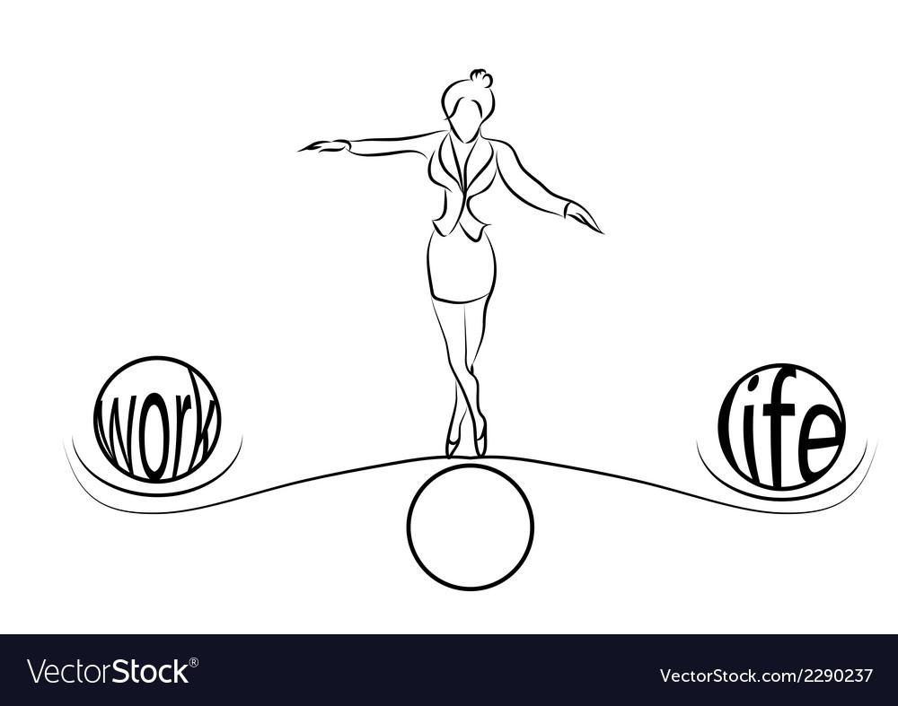 Woman balance of life vector | Price: 1 Credit (USD $1)