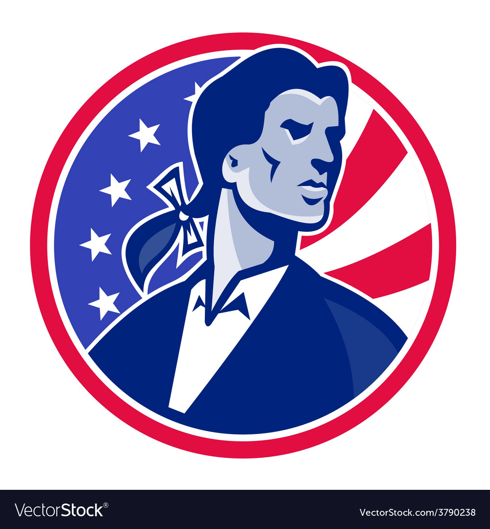 American patriot minuteman stars stripes flag vector | Price: 1 Credit (USD $1)