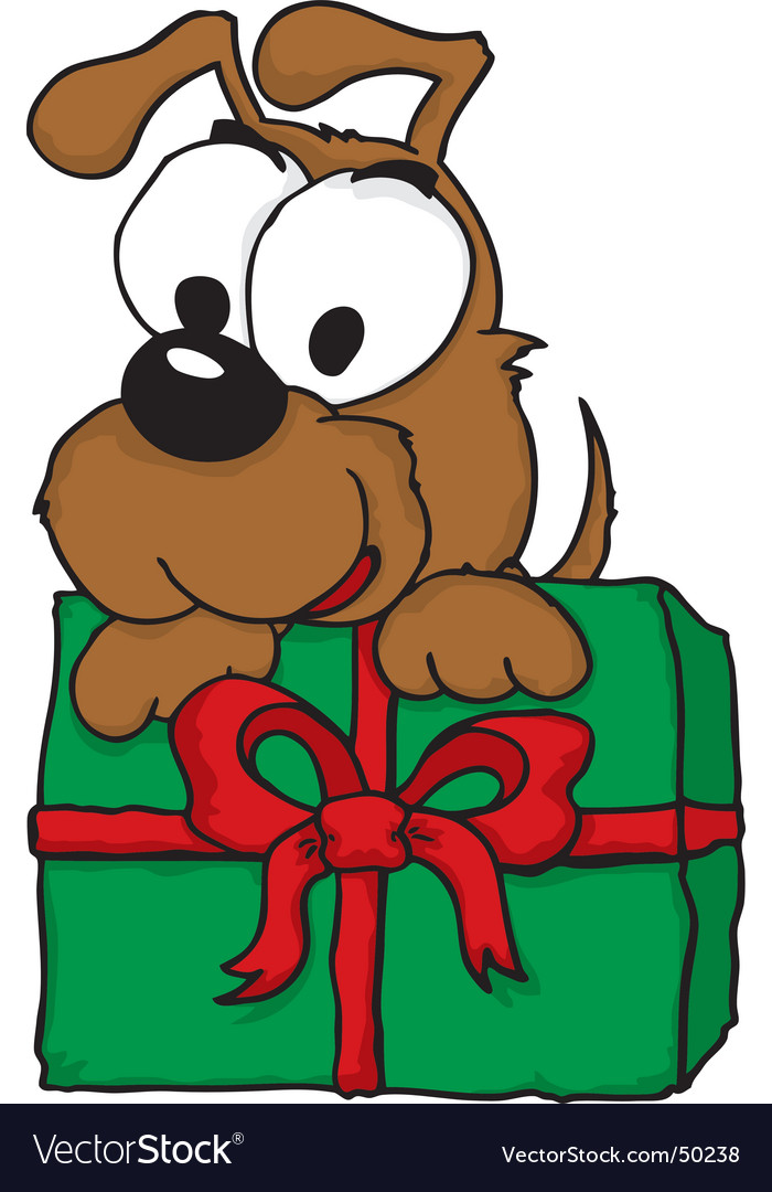 Christmas puppy vector | Price: 1 Credit (USD $1)