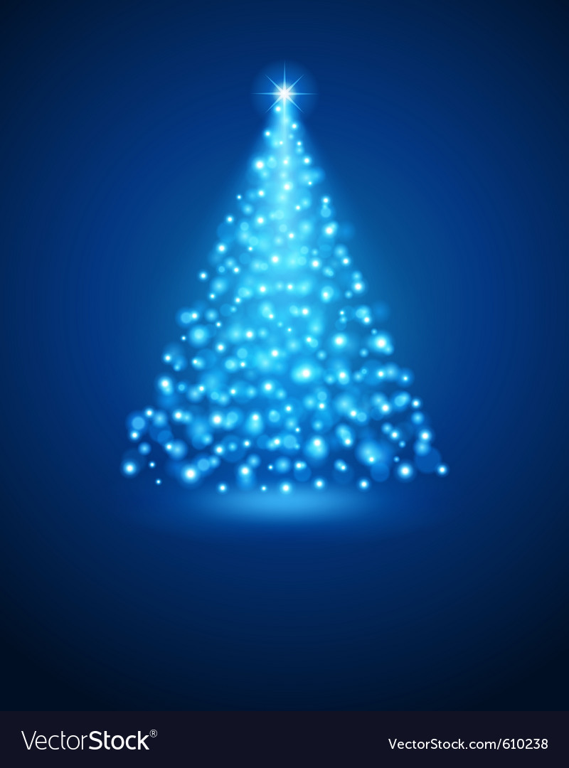 Christmas tree from light vector | Price: 1 Credit (USD $1)