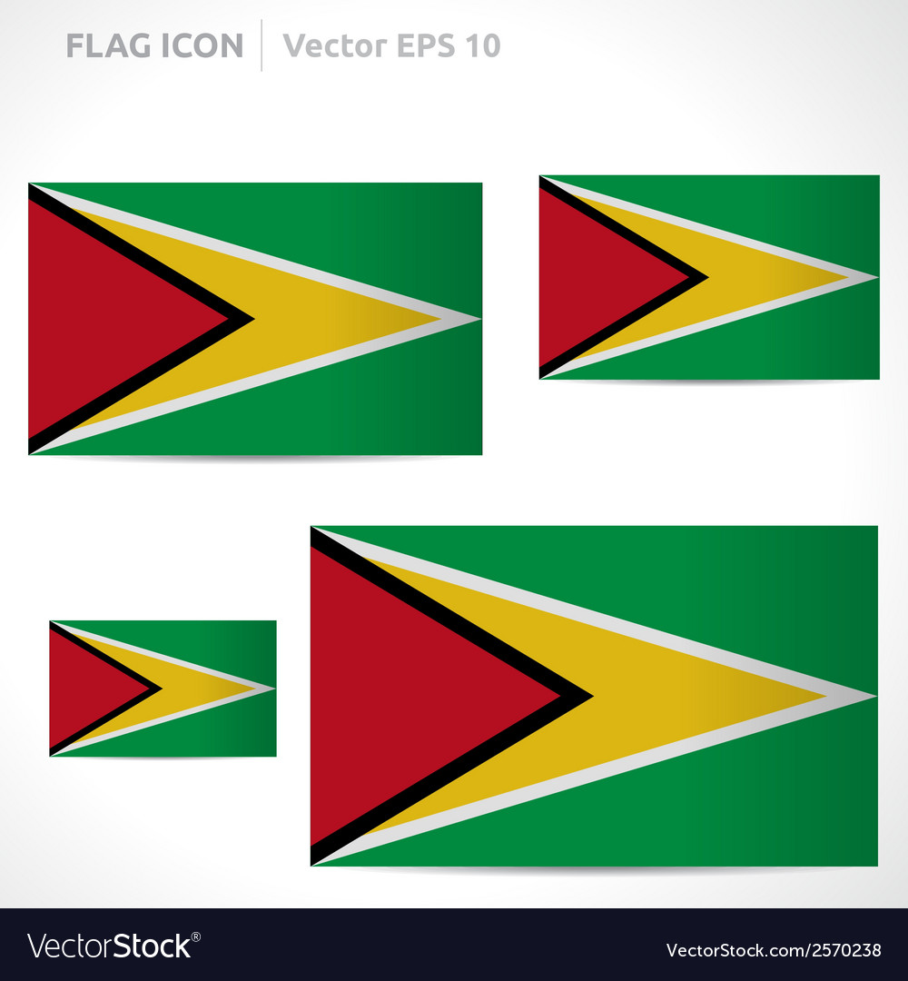 Guyana flag template vector | Price: 1 Credit (USD $1)