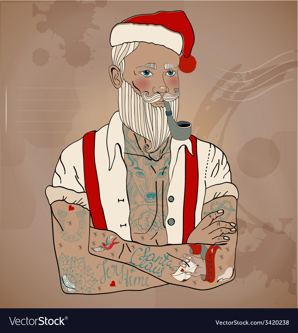 Hipster santa claus vector | Price: 1 Credit (USD $1)