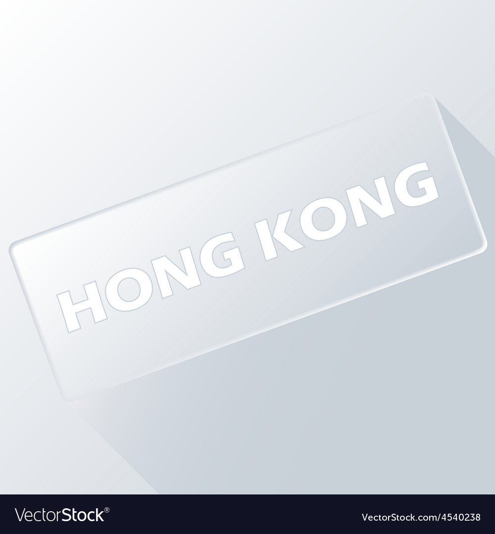 Hong kong unique button vector | Price: 1 Credit (USD $1)