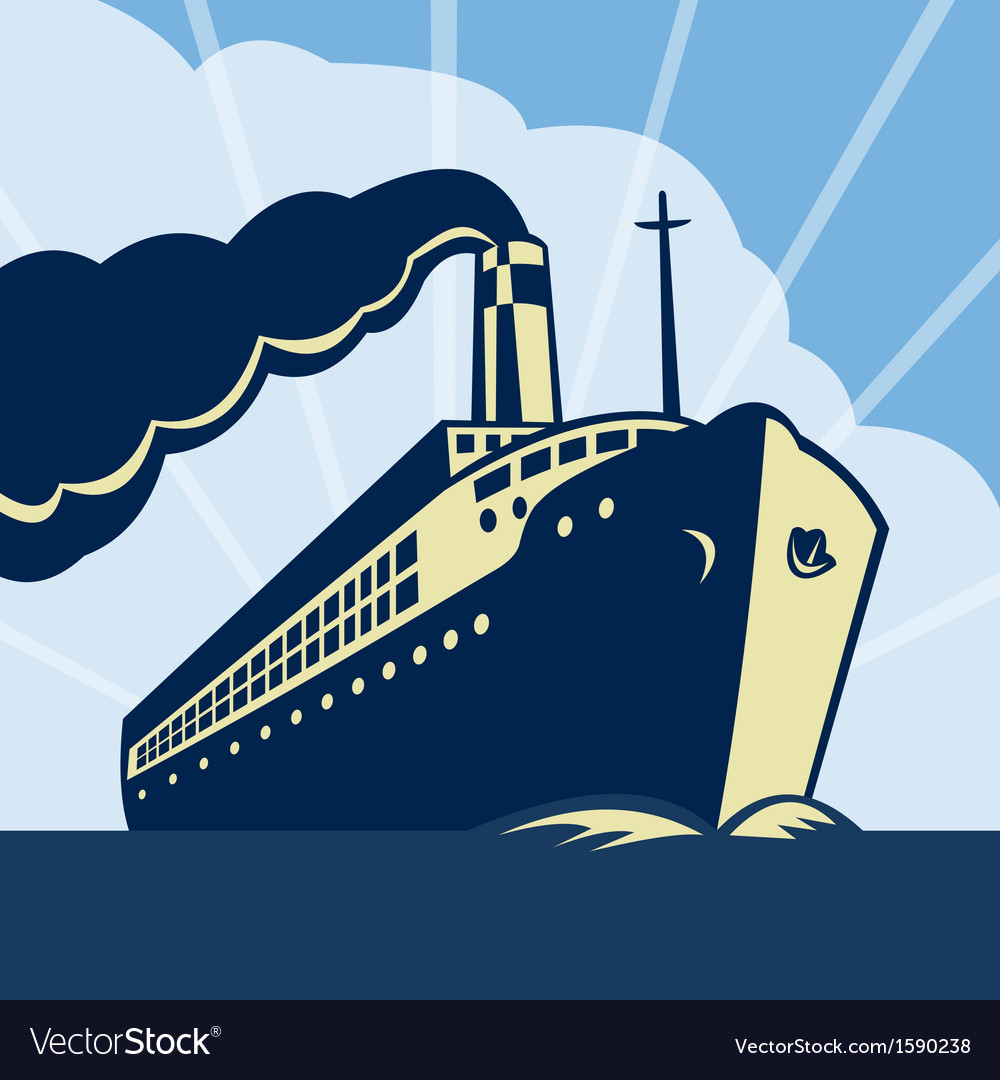 Ocean liner passenger boat ship vector | Price: 1 Credit (USD $1)