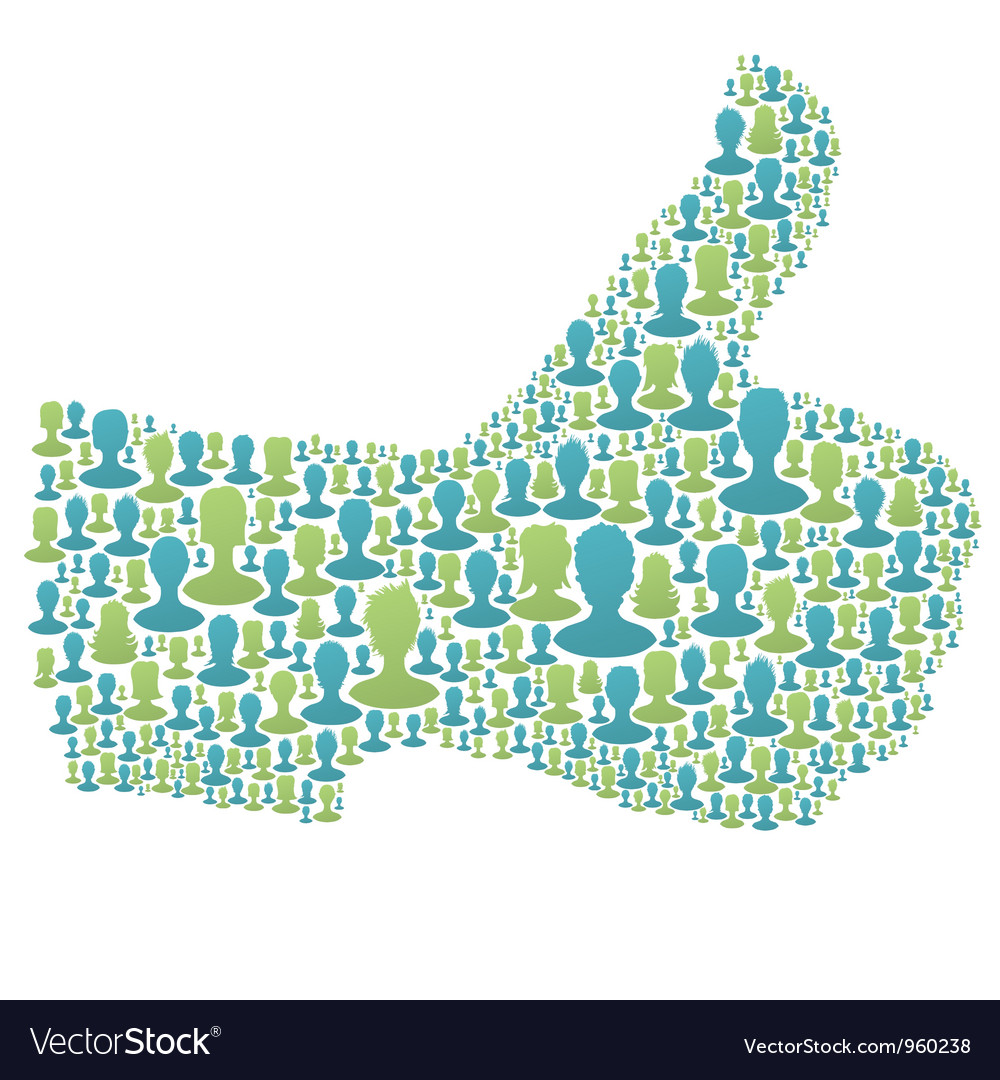 People thumbs up vector | Price: 1 Credit (USD $1)