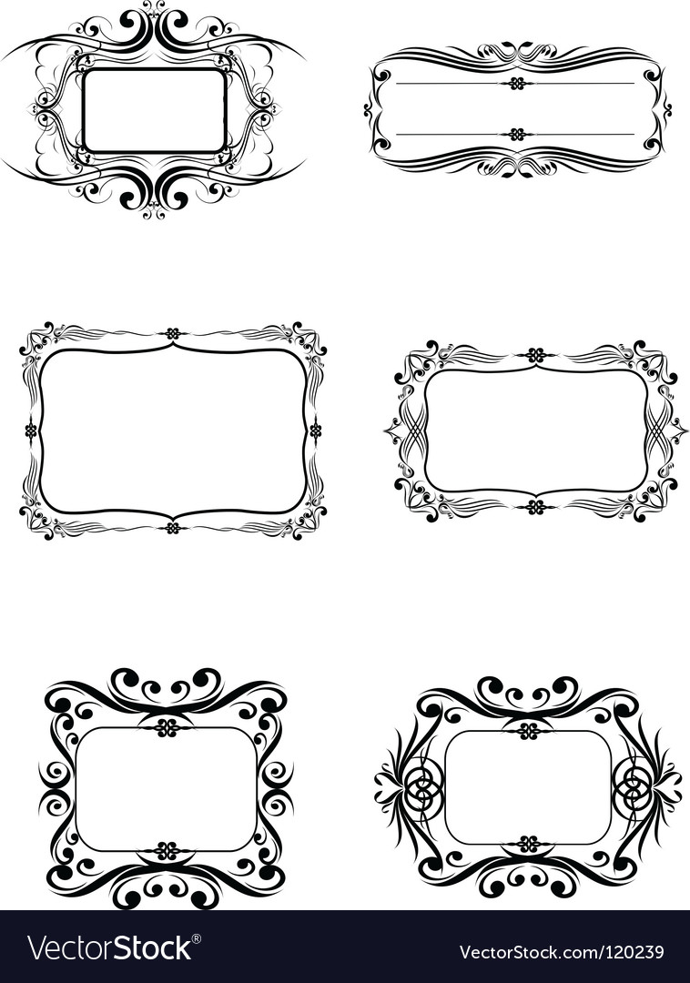 6 frame vector | Price:  Credit (USD $)