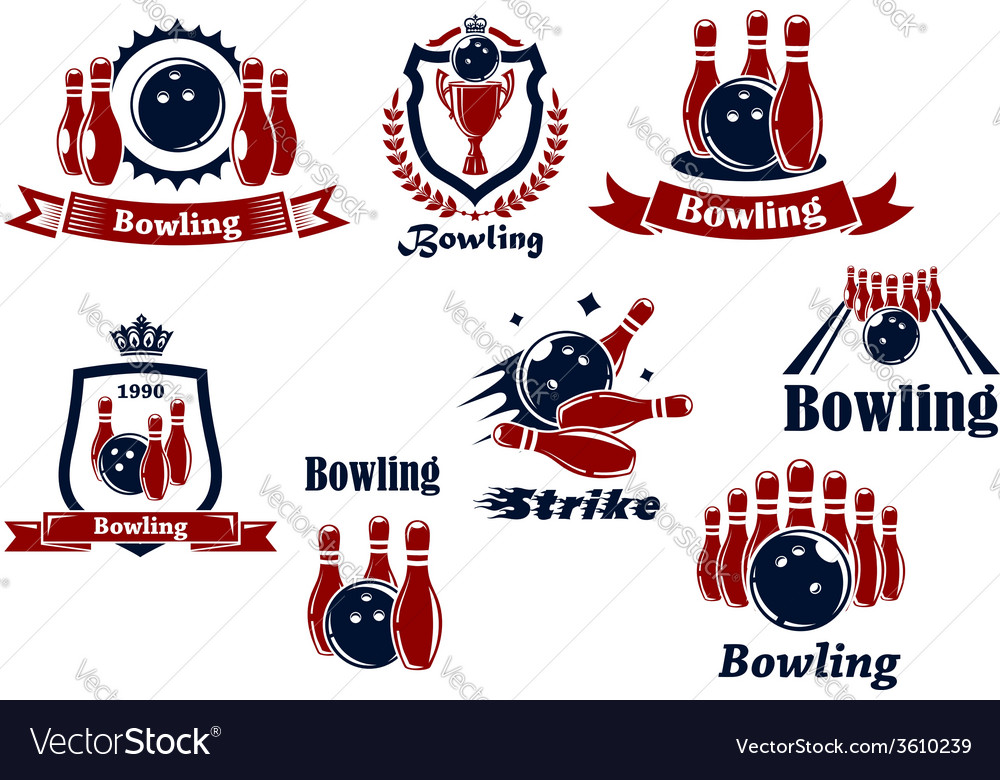 Bowling logo icons vector | Price: 1 Credit (USD $1)