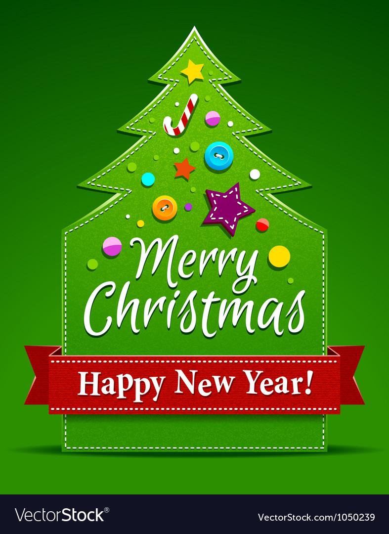Christmas tree applique vector | Price: 1 Credit (USD $1)