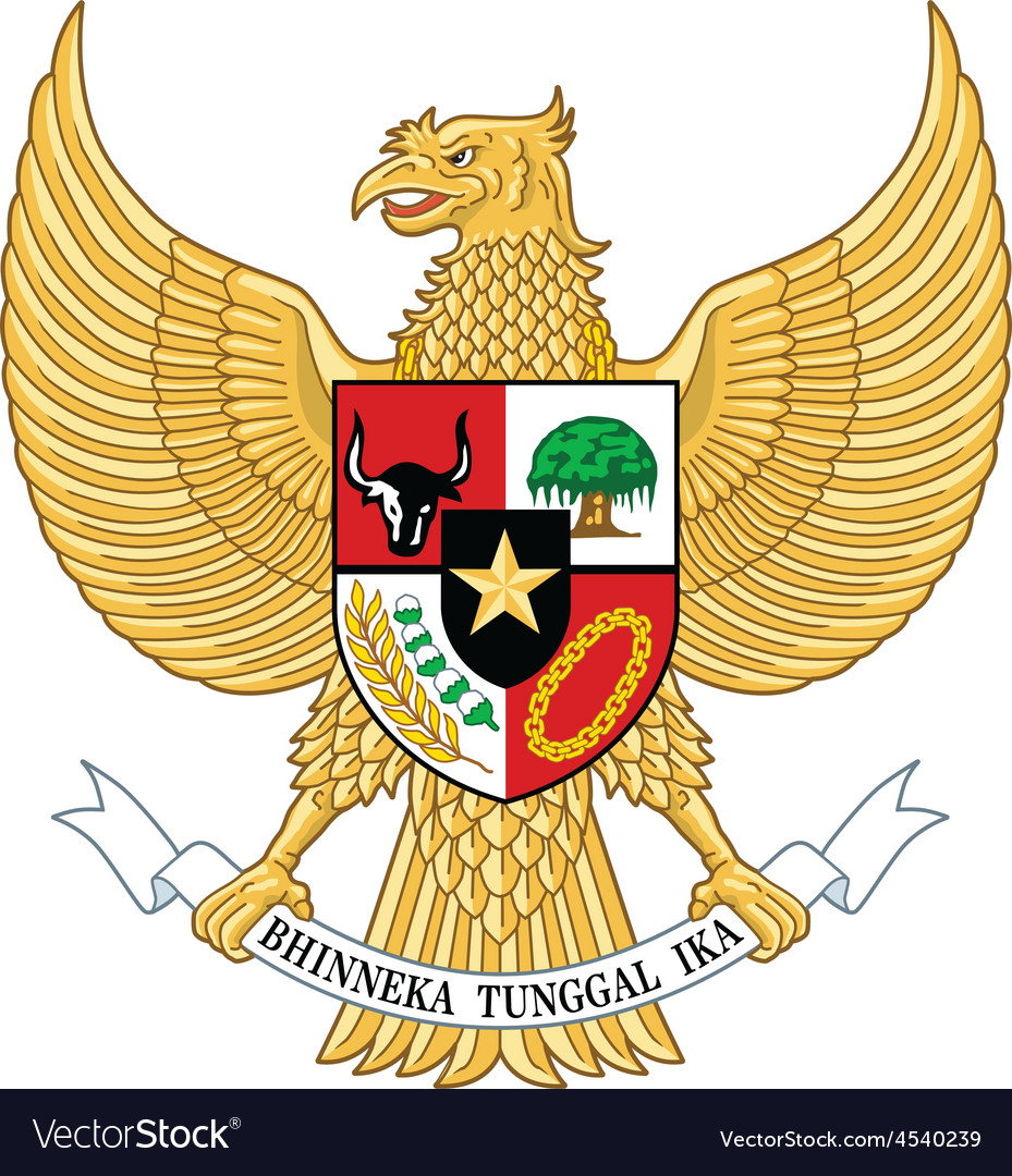 Garuda indonesia indonesia national emblem vector | Price: 1 Credit (USD $1)