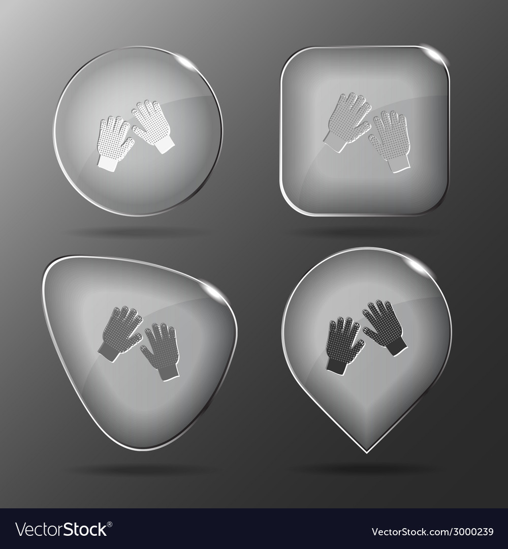 Gauntlets glass buttons vector | Price: 1 Credit (USD $1)